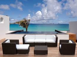 Outdoor Modern Patio Furniture Innovative Desig For Black Wicker Patio Furniture Ideas Modern