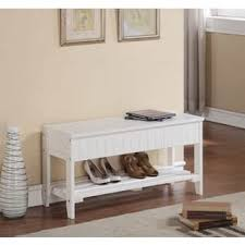 White Bench With Storage Storage Benches White For Less Overstock Com