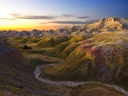 South Dakota landscapes images Sunrise badlands national park south dakota photorator jpg