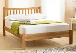 Oak Bed Frame Emporia Beds Milan Oak Bed Frame Idealsdirect