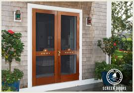 wooden screen and storm doors seaport shutter