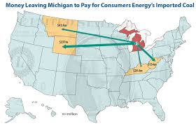 Map Of The State Of Michigan by Burning Coal Burning Cash In Michigan Union Of Concerned Scientists