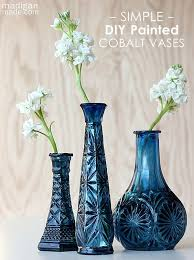 Blue Vases For Wedding Best 25 Painted Glass Vases Ideas On Pinterest Painted Vases