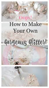 how to make your own vintage german glass glitter glass