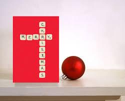 scrabble christmas card merry christmas card for husband