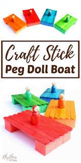 diy craft stick peg doll boat for kids rhythms of play