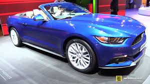 2014 blue mustang convertible 2015 ford mustang convertible exterior and interior walkaround