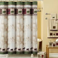 bathroom curtain ideas for shower amazon com ds bath woodland vintage bear shower curtain mildew