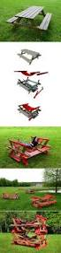 Folding Picnic Table Instructions by Mesa De Picnic Plegable A Banco Proyectos Versatiles Pinterest