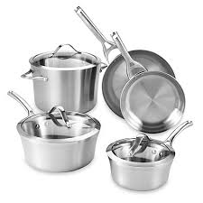 Calphalon Stainless Steel Toaster Calphalon Contemporary Stainless Steel 8 Piece Cookware Set Bed