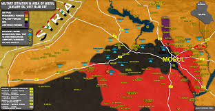 map of irak situation in area of mosul on january 5 2017 iraqi map update