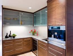Glass Kitchen Cabinet Door Frosted Glass Kitchen Cabinet Doors Brown Plywood Granite Counter