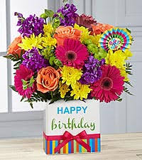 Flowers Delivered With Vase Happy Birthday Flowers Birthday Flowers Ftd
