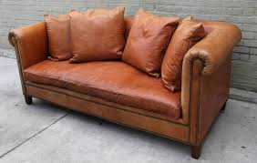 Leather Sofa With Pillows by Ralph Lauren Leather Upholstered Sofa W Four Pillows At 1stdibs