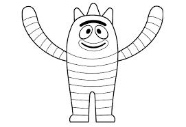 yo gabba gabba printable coloring pages coloring pages