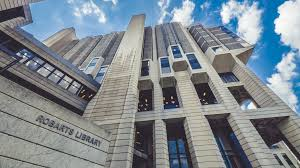 robarts library university toronto uoft wide timelapse stock video