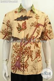 desain baju batik halus baju kemeja batik cowok model lengan pendek busana batik halus
