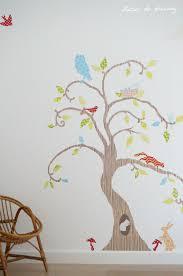 arbre chambre bébé sticker chambre bebe collection avec stickers hibou chambre bébé
