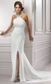 second wedding dresses 40 simple halter wedding dress for brides 40 50