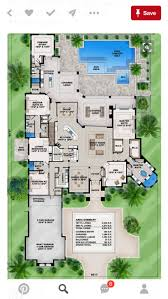 12 best contemporary house plans images on pinterest san mateo this mediterranean 6 bedroom house plan features great room island kitchen private master suite den lanai w outdoor kitchen