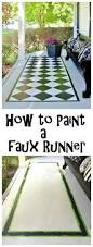Concrete Faux Paint - how to create a faux rug with paint paint rug concrete and gardens
