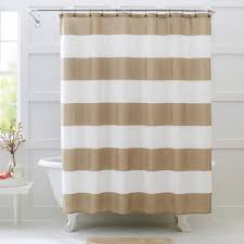 Brown And White Shower Curtains Better Homes And Gardens Porter Stripe Fabric Shower Curtain