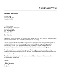 sle professional thank you letter 7 exles in word pdf