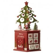 new festive wooden advent calendar with 24