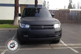 wrapped range rover autobiography range rover autobiography wrapped in 3m deep matte black car wrap