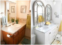 Vanity Designs For Bathrooms Remodelaholic Updated Bathroom Single Sink Vanity To Double Sink