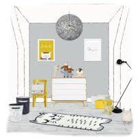 nattiot tapis bigfoot blanc et noir lavable chambre de