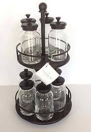 Pottery Barn Rack Pottery Barn Rotary Metal Spice Rack With Glass Jars New What U0027s