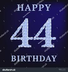 44 Years Old by 44 Birthday Card 44 Years Old Stock Illustration 154076084