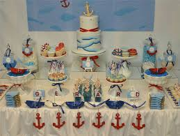 Ocean Cake Decorations Ocean Swirl Nautical Dessert Table Baptism Party Ideas Photo 1