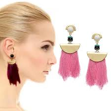 exo earrings formu exaggerated tassel earrings women cotton line cluster exo