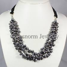 pearl bib statement necklace images Fabulous grey gray baroque freshwater pearl necklace 10 layers jpg
