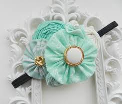 mint green headband baby headband mint headband newborn headband mint green headband