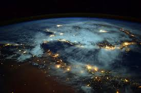 Wildfire From Space by Picture Of The Day Spirals Of Light Bursting From Earth