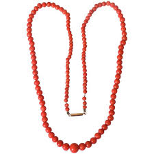 coral bead necklace images Antique victorian gold red salmon coral beads necklace for sale at jpg