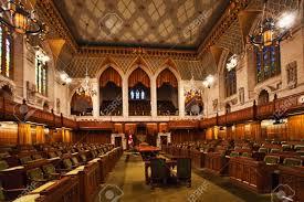 chambre des communes vue intérieure de la chambre des communes du parlement ottawa