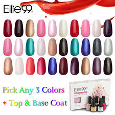 amazon com elite99 uv led color nail art any 3 colors with top