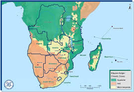 africa map climate zones southern development community meteorology climate
