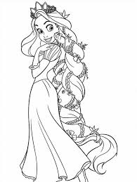 tangled coloring pages getcoloringpages
