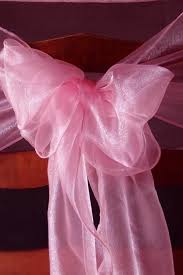Purple Chair Sashes Organza Chair Sashes Coral Pink