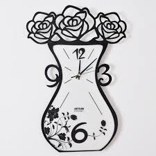 Wall Clock For Living Room by Creative Living Room Wall Clock Mute Hanging Watch Fashion Digital