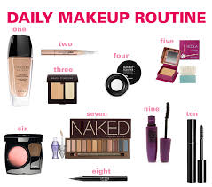 daily makeup routine