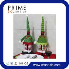 wine bottle cover elf christmas gift bags for christmas ornaments