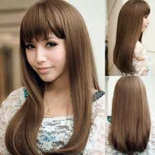 cute haircuts for long hair with bangs