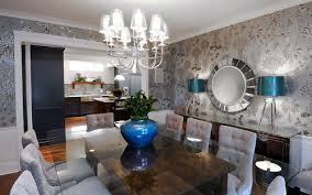 silver dining room contemporary dining room ideas photos