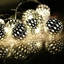 festival lighting 20 led l string battery box silver metal